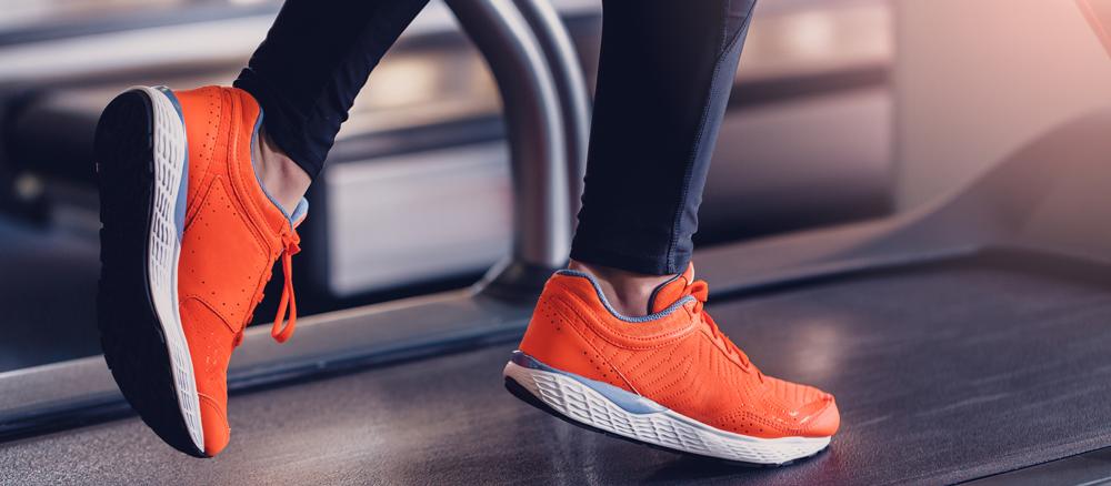 Treadmill running gait